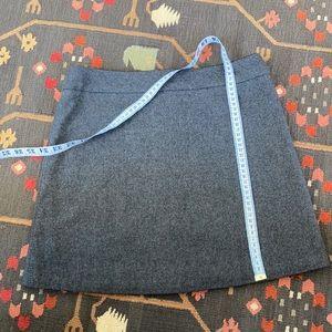 Grey Wool Blend Mini Skirt